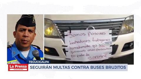 Seguirán multas contra buses brujitos