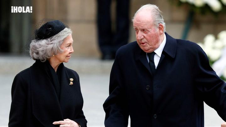 Los reyes Juan Carlos y Sofía asisten al funeral del Gran Duque Juan de Luxemburgo