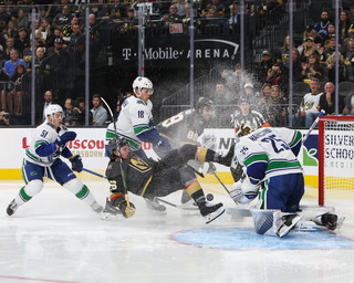 Golden Knights discuss shootout loss to Canucks
