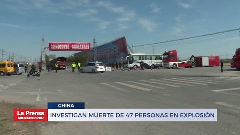 Investigan muerte de 47 personas en explosión