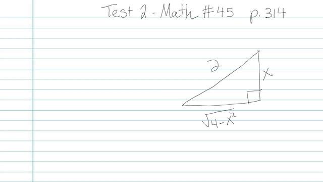 Test 2 - Math - Question 45