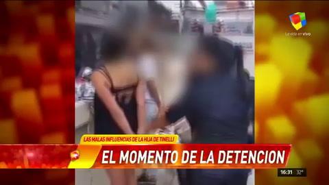 Filman la detención de mecheras VIP amigas de la hija menor de Tinelli