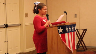 """Freedom Isn't Free"" - Winner of essay contest reads at Freedom Week luncheon"