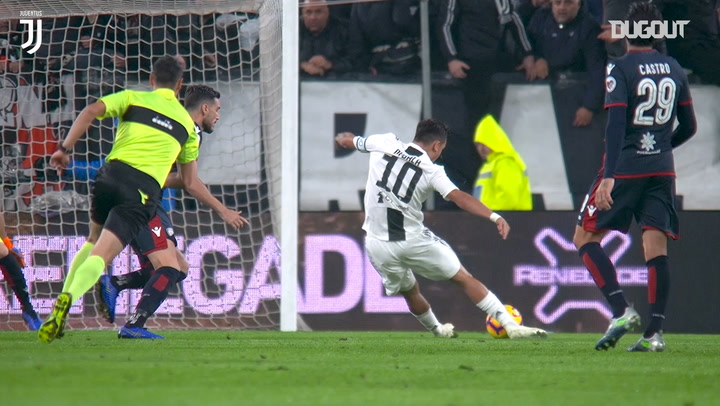 Paulo Dybala's incredible goal against Cagliari after 50 seconds