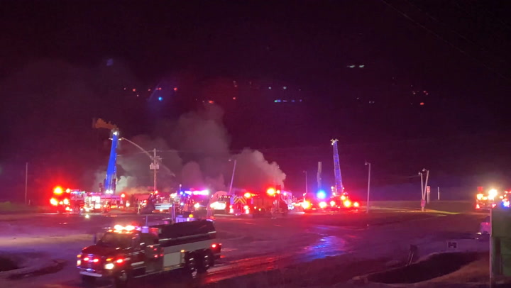 RAW VIDEO: Iconic I-70 Stuckey's leveled by fire