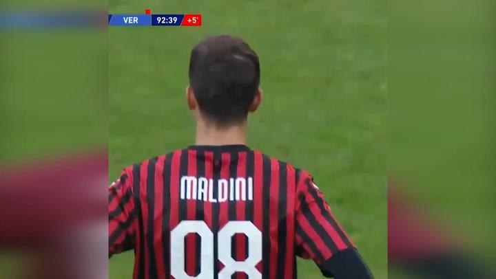 Daniel Maldini debuta con el Milan en Serie A