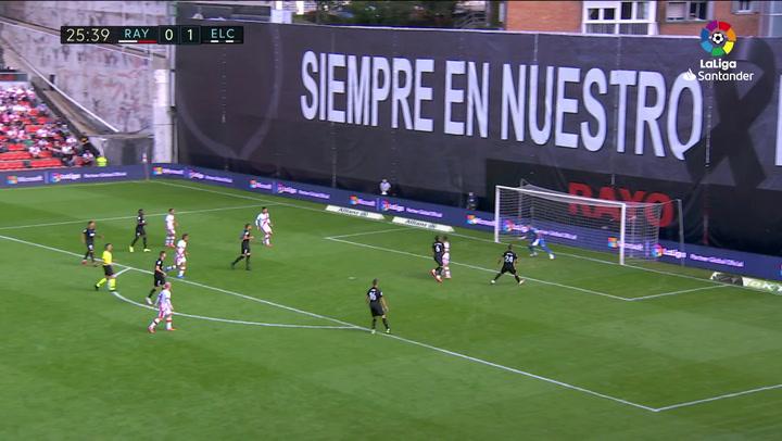 Gol de Mario Hernández (1-1) en el Rayo Vallecano 2-1 Elche