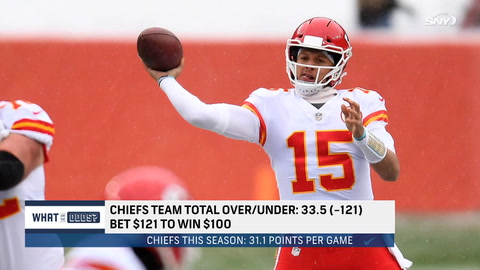 What are the odds the Chiefs hit the over against the Jets in Week 8?