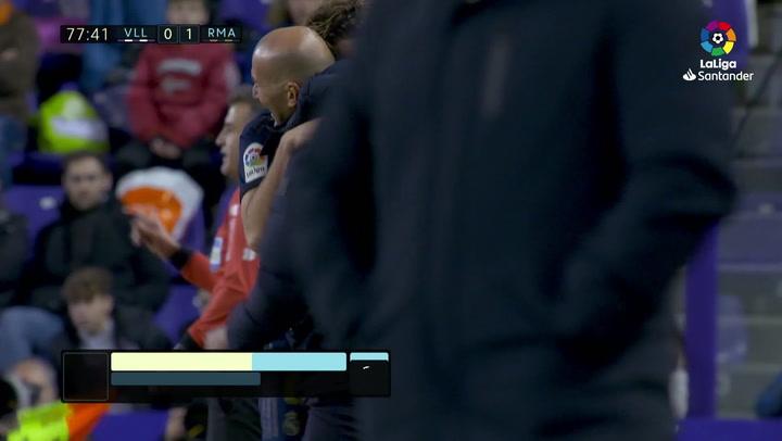 Gol de Nacho (0-1) en el Valladolid 0-1 Real Madrid