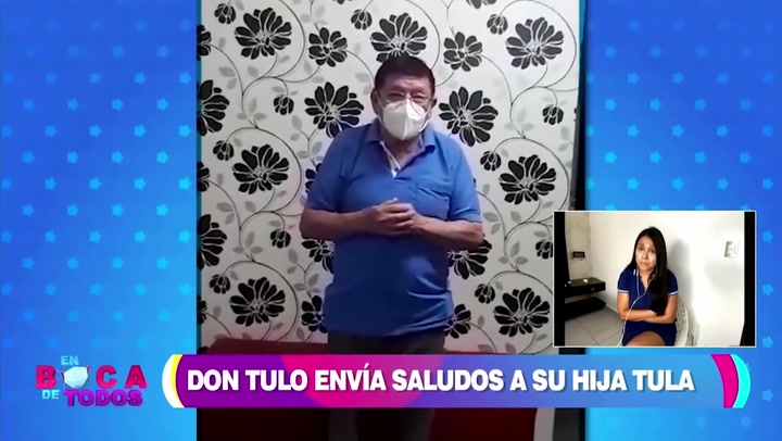 """Papá de Tula Rodríguez y su emotivo mensaje: """"Por favor hijita cuídate"""""""