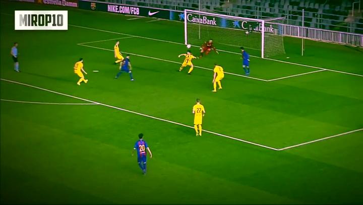 Así juega Carles Pérez, canterano del Barça