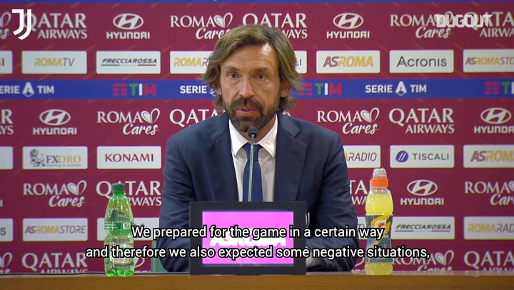 Andrea Pirlo hails Juventus' second half fightback at AS Roma