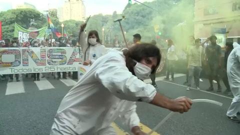 Argentinos protestan contra Monsanto
