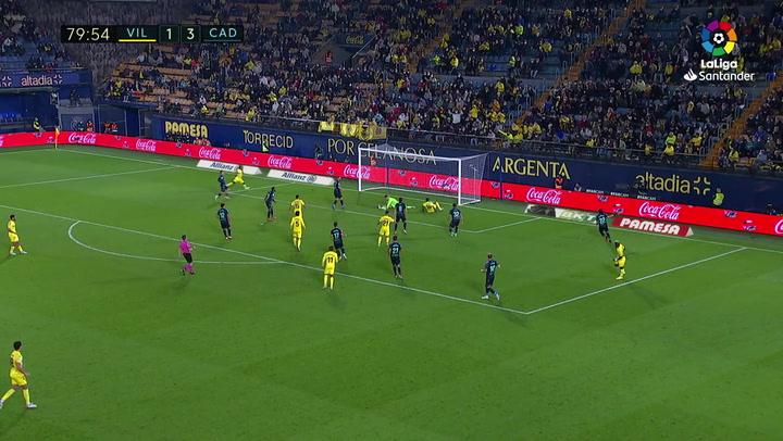 Gol de Dia (2-3) en el Villarreal 3-3 Cádiz