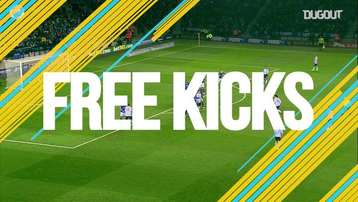Free-kicks: Aleksandar Kolarov vs Leicester