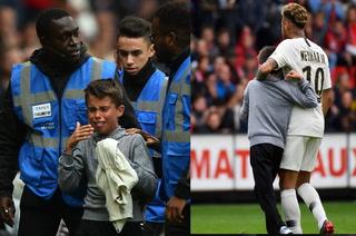 El detallazo de Neymar con un niño que invadió la cancha en el partido ante Rennes