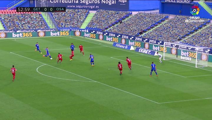 Gol de Jaime Mata (1-0) en el Getafe 1-0 Osasuna