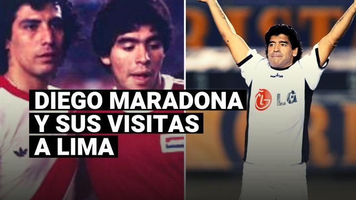 Diego Maradona y un repaso de sus visitas a Lima