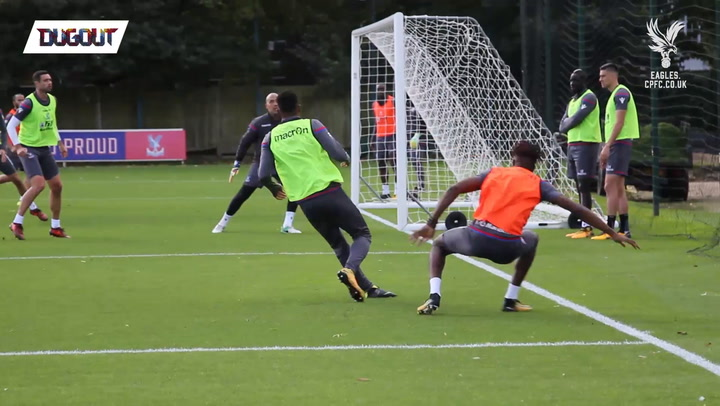 Zaha's massive nutmeg on return to training
