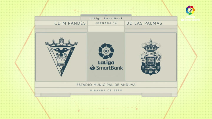 LaLiga SmartBank (J16): Resumen y goles del Mirandés 2-1 Las Palmas