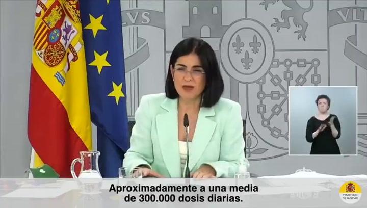Carolina Darias afirma que se han administrado unas 300.000 vacunas diarias