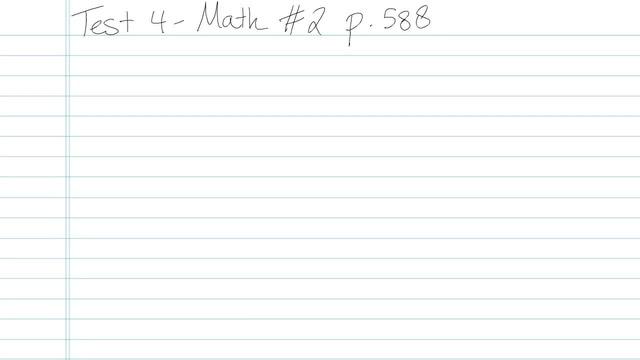 Test 4 - Math - Question 2