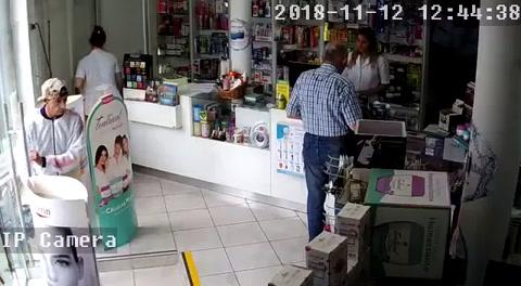 Asaltó una farmacia y quedó registrado por las cámaras del local