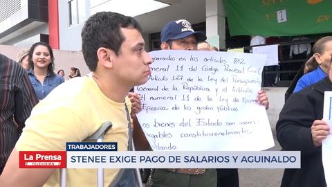 STENEE exige pago de salarios y aguinaldo