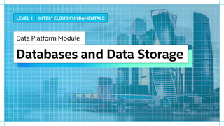 Chapter 1: Databases and Data Stores
