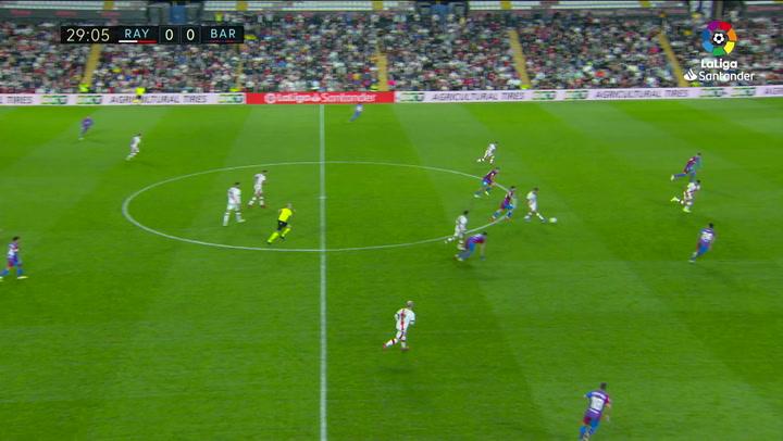 Gol de Falcao (1-0) en el Rayo Vallecano 1-0 Barcelona