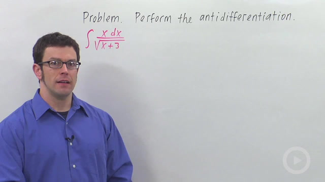 Tricky Substitutions Involving Radicals - Problem 1