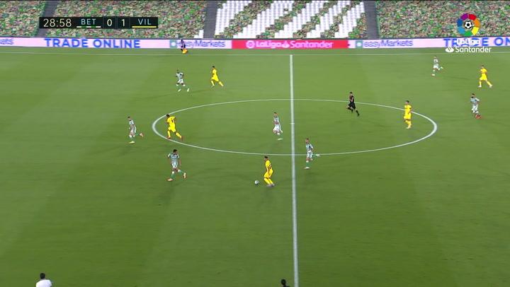 Gol de Gerard Moreno (0-2) en el Betis 0-2 Villarreal