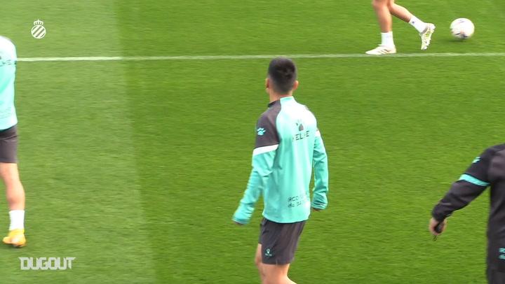 Wu Lei in training with Espanyol