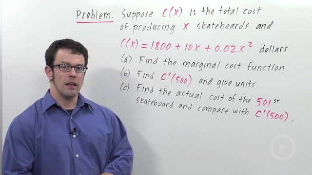 Economics: Marginal Cost & Revenue - Problem 1