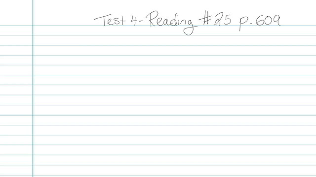 Test 4 - Reading - Question 25