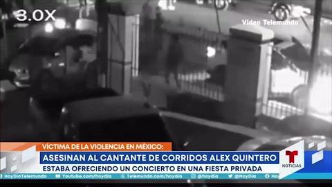 Video del momento antes del asesinato de Alex Quintero