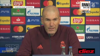 Zidane se pronuncia de la polémica contra Barcelona y la final que tendrá ante Mönchengladbach