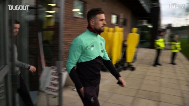 Liverpool squad train ahead of West Ham United clash