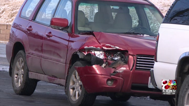 More than six cars damaged in Old 63 and Broadway pile-up