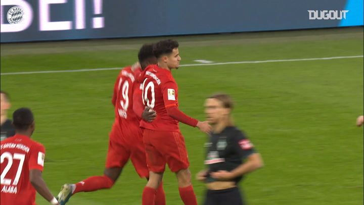 Philippe Coutinho's unstoppable strike vs SV Werder Bremen