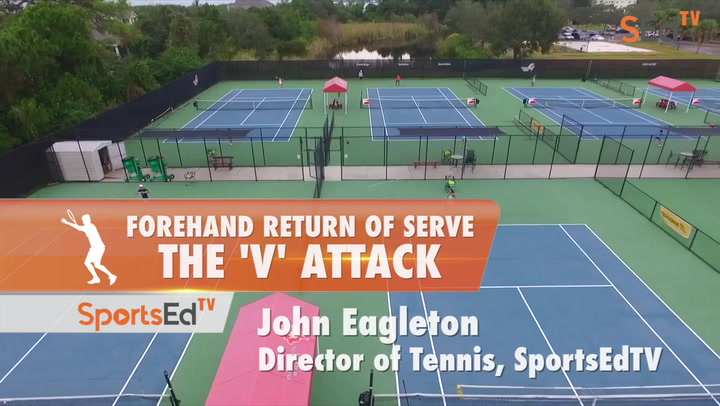 """Forehand Return Of Serve - The """"V"""" Attack"""