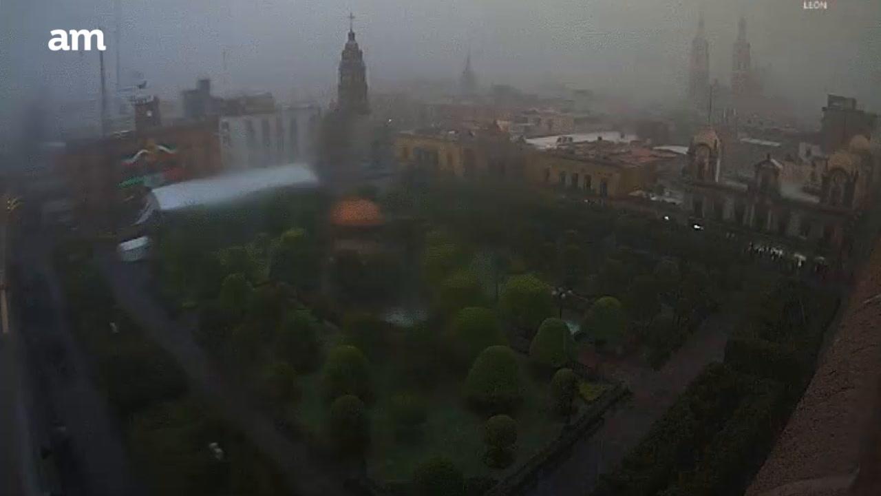 El paso de la tormenta en León y San Miguel