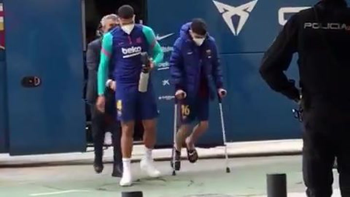 Pedri y Araujo, lesionados ante el Sevilla