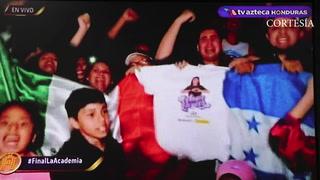 Eufórico apoyo de hondureños hacia Angie Flores