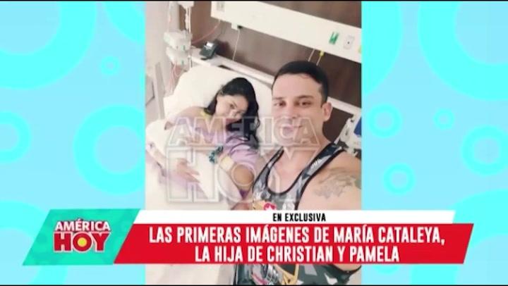 Pamela Franco y Christian Domínguez muestran las primeras fotos de su hija María Cataleya