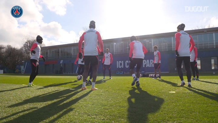 PSG are getting ready before Le Classique against Marseille