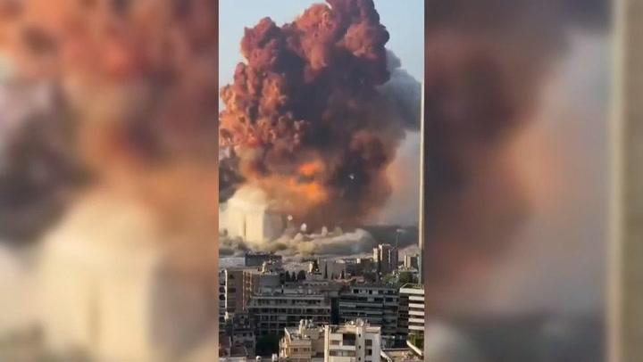Brutal explosión en el puerto de Beirut