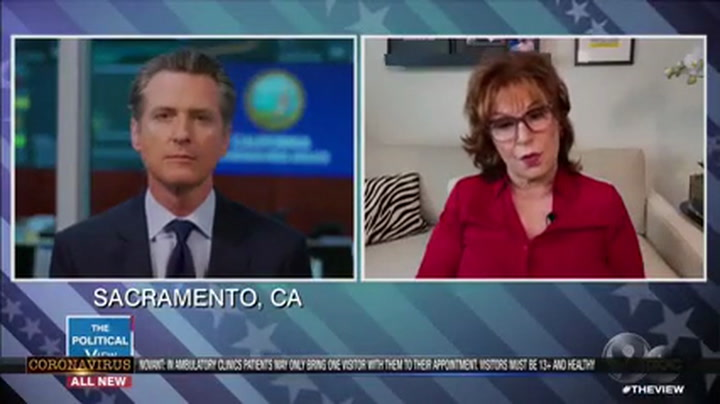 CA Gov. Newsom Praises Trump as 'Proactive' When Joy Behar Asks If He's 'Kissing the Ring'