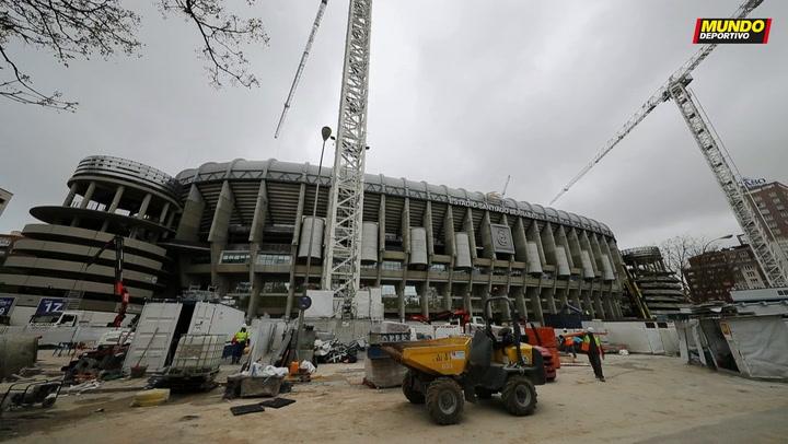Las obras del estadio Santiago Bernabéu marchan al cien por cien