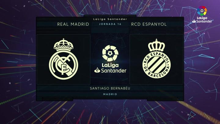 LaLiga Santander (J16): Resumen del Real Madrid 2-0 Espanyol J16